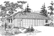 Traditional Style House Plan - 0 Beds 0 Baths 1500 Sq/Ft Plan #124-664 Exterior - Front Elevation