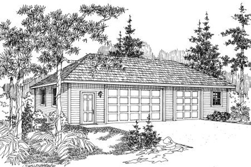 Traditional Exterior - Front Elevation Plan #124-664