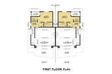 Contemporary Floor Plan - Main Floor Plan Plan #1066-119