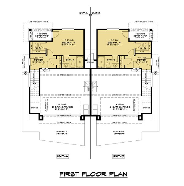 Contemporary Floor Plan - Main Floor Plan #1066-119
