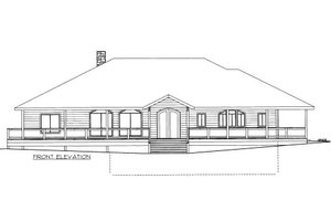Traditional Exterior - Front Elevation Plan #117-772