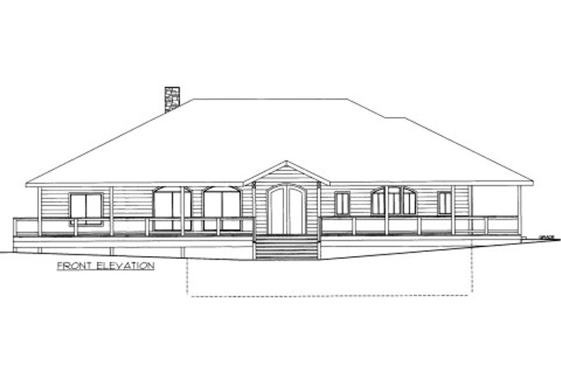Traditional Style House Plan - 1 Beds 2 Baths 2940 Sq/Ft Plan #117-772 Exterior - Front Elevation