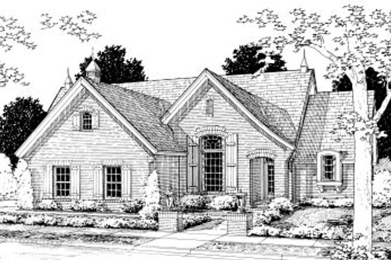 House Plan Design - European Exterior - Front Elevation Plan #20-365