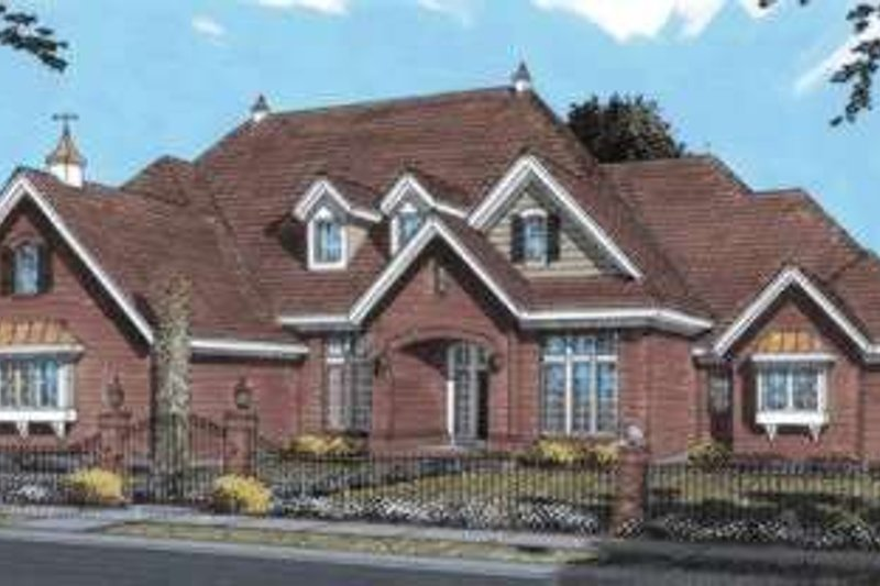 Home Plan - European Exterior - Front Elevation Plan #20-1680