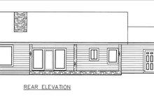 House Plan Design - Ranch Exterior - Rear Elevation Plan #117-882