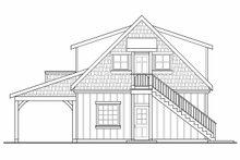 Craftsman Exterior - Rear Elevation Plan #124-1142