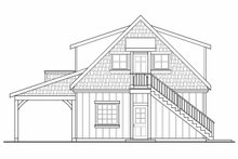 House Plan Design - Craftsman Exterior - Rear Elevation Plan #124-1142