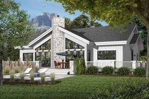 Contemporary Exterior - Front Elevation Plan #23-2263
