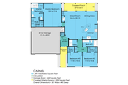 Ranch Style House Plan - 3 Beds 2 Baths 1491 Sq/Ft Plan #489-1 Floor Plan - Main Floor Plan