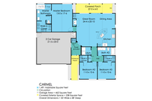 Ranch Floor Plan - Main Floor Plan Plan #489-1