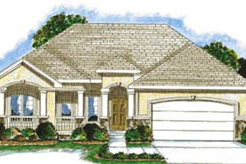 Dream House Plan - European Exterior - Front Elevation Plan #20-1370