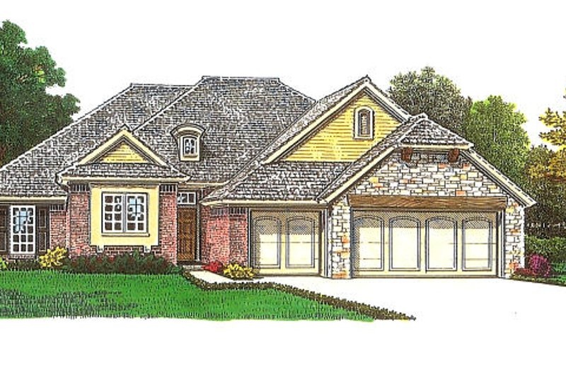 European Exterior - Front Elevation Plan #310-970 - Houseplans.com