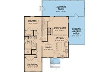 Craftsman Floor Plan - Main Floor Plan Plan #923-13