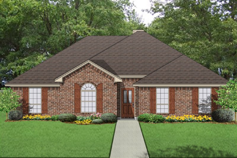 Traditional Exterior - Front Elevation Plan #84-559 - Houseplans.com