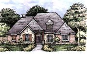 European Style House Plan - 4 Beds 3 Baths 2686 Sq/Ft Plan #141-314 Exterior - Front Elevation