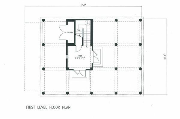 Beach Floor Plan - Lower Floor Plan #443-7