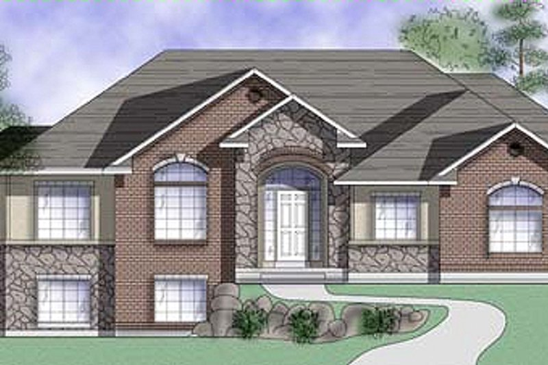 Dream House Plan - Traditional Exterior - Front Elevation Plan #5-119