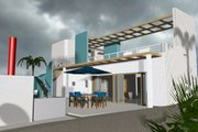 Beach Style House Plan - 3 Beds 3 Baths 3066 Sq/Ft Plan #535-23 Exterior - Rear Elevation