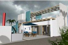 Beach Exterior - Rear Elevation Plan #535-23
