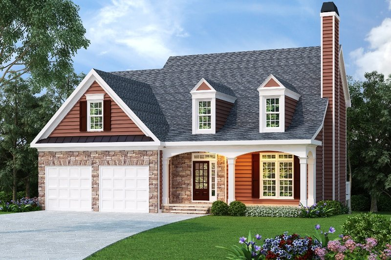Country Exterior - Front Elevation Plan #419-121