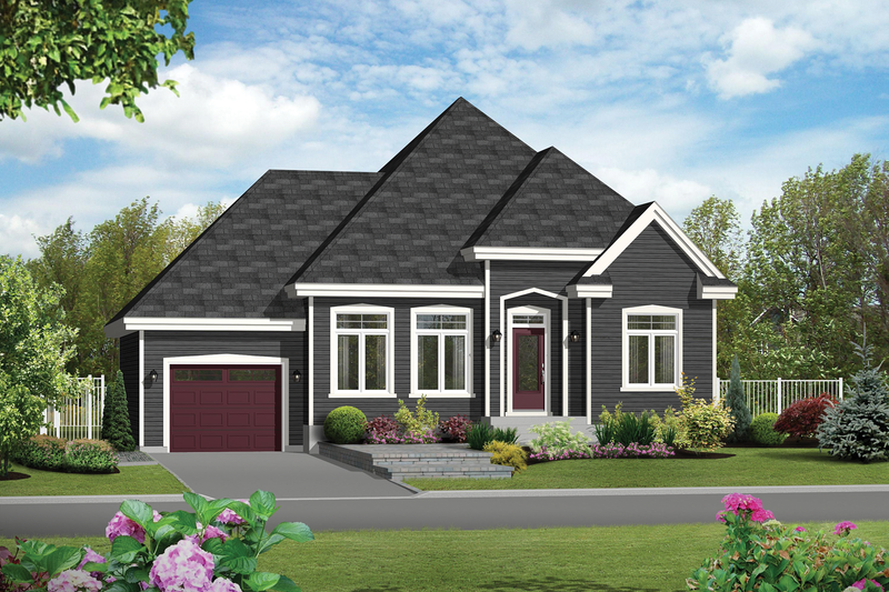 Traditional Style House Plan - 3 Beds 1 Baths 1160 Sq/Ft Plan #25-4592 Exterior - Front Elevation
