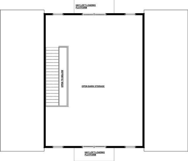 Farmhouse Floor Plan - Upper Floor Plan Plan #895-116