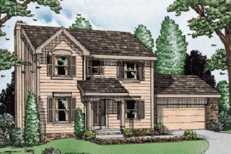 Colonial Exterior - Front Elevation Plan #20-462