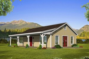 Country Exterior - Front Elevation Plan #932-200