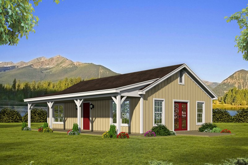 House Plan Design - Country Exterior - Front Elevation Plan #932-200