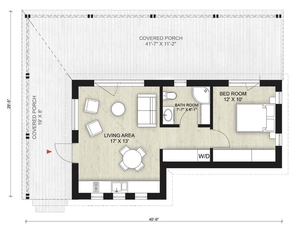 Cabin Style House Plan 1 Beds 1 Baths 500 Sq Ft Plan 924 7 Floorplans Com