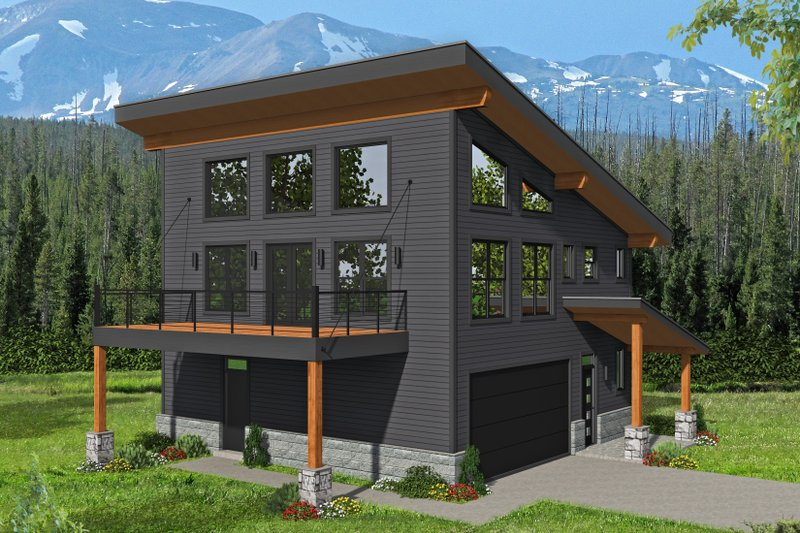 Contemporary Style House Plan - 2 Beds 2 Baths 1359 Sq/Ft Plan #932-339