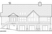 European Style House Plan - 3 Beds 2.5 Baths 2326 Sq/Ft Plan #417-239 Exterior - Rear Elevation