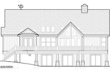 European Exterior - Rear Elevation Plan #417-239