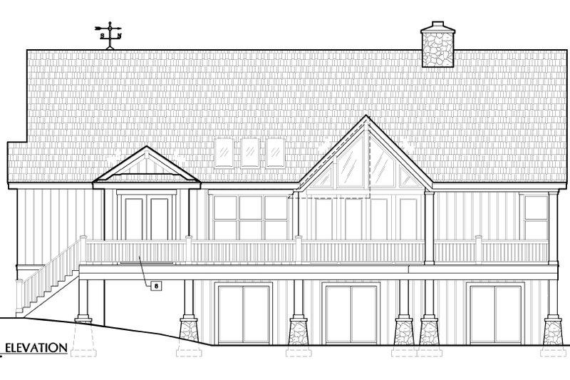 European Exterior - Rear Elevation Plan #417-239 - Houseplans.com