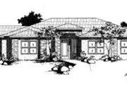 Modern Style House Plan - 4 Beds 2 Baths 2192 Sq/Ft Plan #24-186 Exterior - Front Elevation