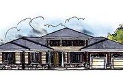 House Plan - 3 Beds 2 Baths 1810 Sq/Ft Plan #70-615 Exterior - Front Elevation