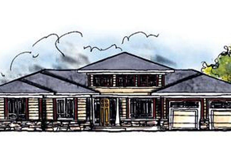 Architectural House Design - Exterior - Front Elevation Plan #70-615