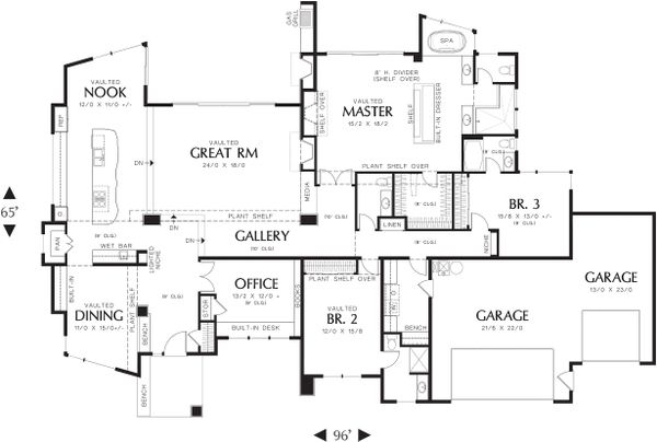 Main Floor Plan- 3300 square foot Modern home