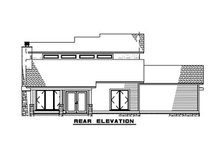 House Plan Design - Contemporary Exterior - Rear Elevation Plan #923-52