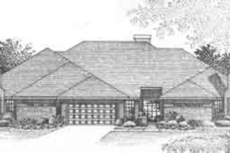 Traditional Style House Plan - 2 Beds 2 Baths 4623 Sq/Ft Plan #310-453 Exterior - Front Elevation