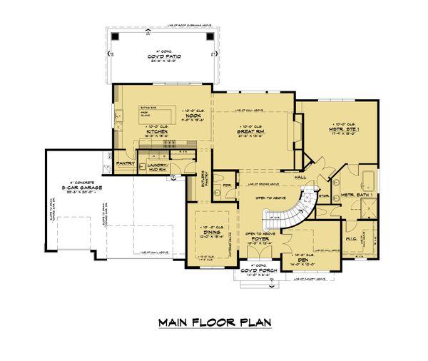 Contemporary Floor Plan - Main Floor Plan #1066-116