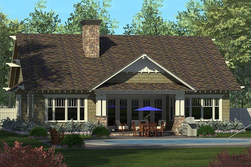 Craftsman Exterior - Rear Elevation Plan #453-59 - Houseplans.com