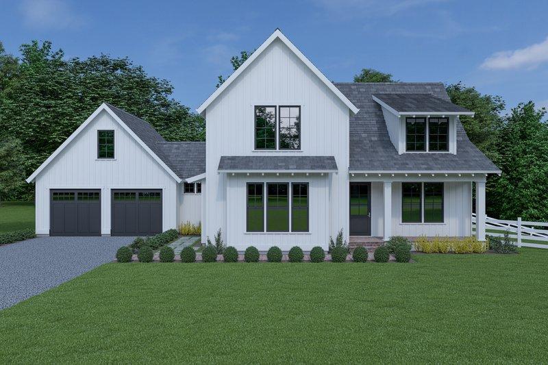 Dream House Plan - Farmhouse Exterior - Front Elevation Plan #1070-69
