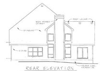 Home Plan Design - Craftsman Exterior - Rear Elevation Plan #20-249
