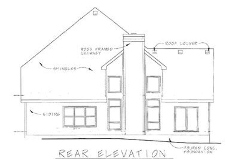 Craftsman Exterior - Rear Elevation Plan #20-249 - Houseplans.com