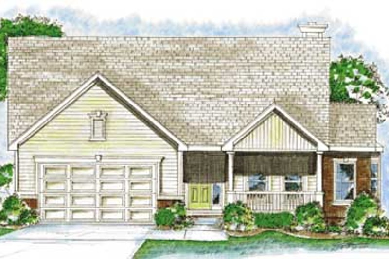 Country Exterior - Front Elevation Plan #20-1377 - Houseplans.com