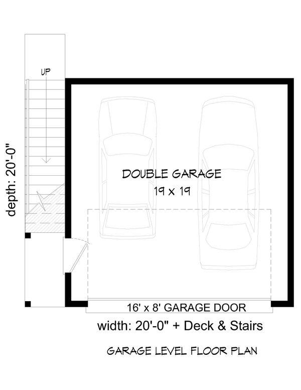 Contemporary Floor Plan - Main Floor Plan Plan #932-50