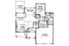 Craftsman Floor Plan - Main Floor Plan Plan #46-891