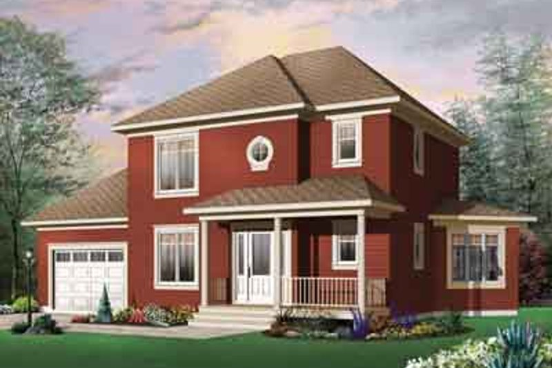 Traditional Exterior - Front Elevation Plan #23-674 - Houseplans.com