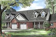 Traditional Style House Plan - 2 Beds 2 Baths 2796 Sq/Ft Plan #17-549 Exterior - Front Elevation